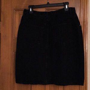 Denim Skirt, Black